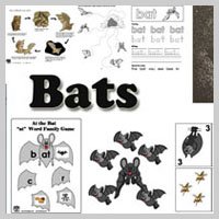 Preschool Kindergarten Bats Activities and Crafts