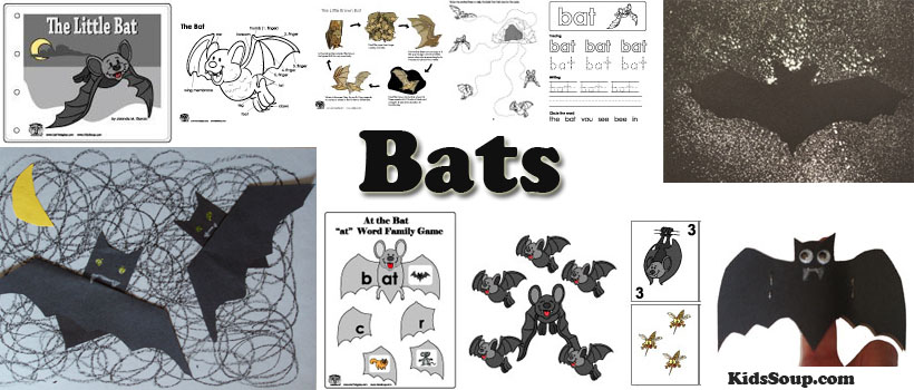 Bats Preschool Activities Crafts And Lessons Kidssoup