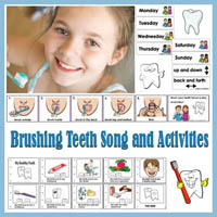 Preschool, Kindergarten Brush your Teeth Everyday Song and Printables