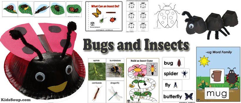 Bugs and Garden Critters Preschool Activities and Crafts – Gardening Lesson Plans