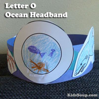 Preschool Kindergarten O for Ocean Craft and Activity