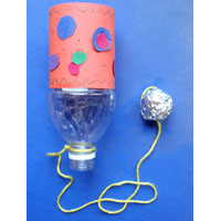 Earth Day Recycled Bottle craft idea and game