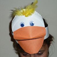One Duck Stuck preschool and kindergarten duck headband craft