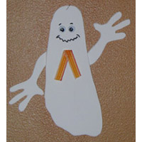 Foot ghost craft for preschool and kindergarten