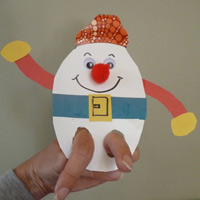 Humpty Dumpty craft, activities, and games for preschool
