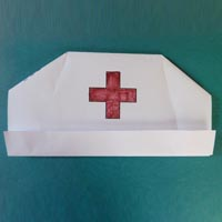 Nurse hat craft, rhyme, and activity for preschool and kindergarten