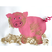 farm animals and pig craft and activities for preschool and kindergarten