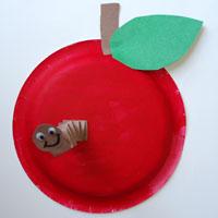 Apple paper plate preschool kindergarten craft