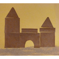 Sand paper castle craft and activity for preschool and kindergarten
