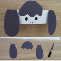 farm animal headband crafts and game for preschool and kindergarten