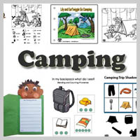 Preschool Kindergarten Camping Activities and Crafts