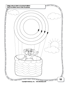 preschool circle prewriting and tracing worksheets