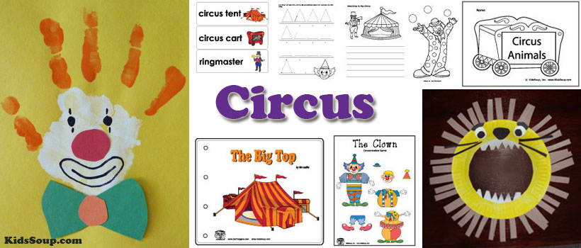 Circus Crafts, Activities, Games, and Printables | KidsSoup