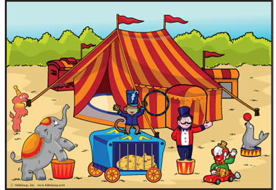 KidsSoup Circus Poster and Printable for preschool