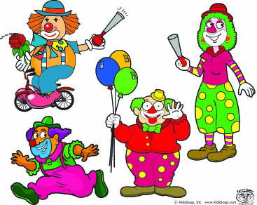 Clowns Language Activity for preschool and kindergarten