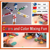 Preschool, kindergarten, Color Mixing Activities