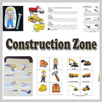 Preschool Kindergarten Construction Zone Activities and Crafts