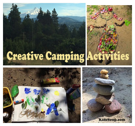 Creative camping activities kidssoup for Outdoor crafts for camping