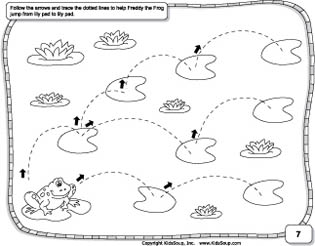 curved line preschool prewriting skills worksheet