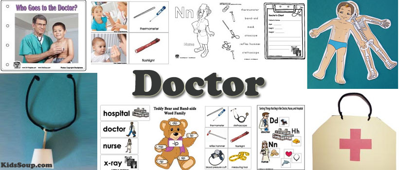 Doctor And Hospital Crafts Activities Games For Preschool Kindergarten