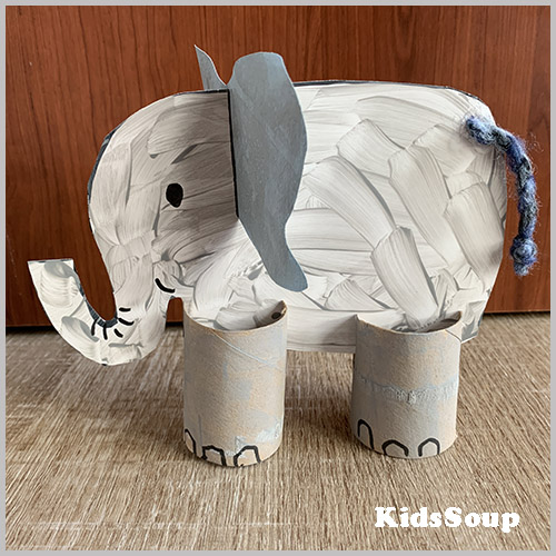 Elephant craft preschool and kindergarten