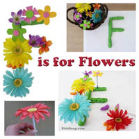 Preschool Kindergarten F is for Flower Activity