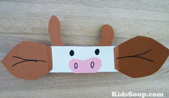 Cow head band craft and cow activities for preschool and kindergarten