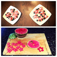 4th of July Fruit Salad Activity for preschool and kindergarten