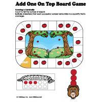 Apple On Top preschool kindergarten addition board game