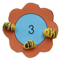 preschool bee number sense activity and printable