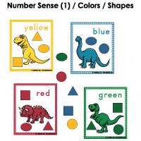 Color matching activity and game for preschool