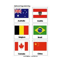 Olympic Games Country Flags Matching Game