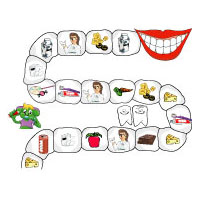 Teeth preschool and kindergarten board game
