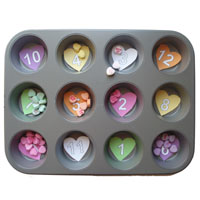 Valentines hearts math activity for preschool