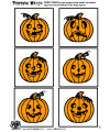 preschool and kindergarten pumpkin matching game