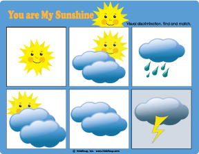 Weather matching game and activity