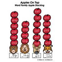 10 Apples Up On Top preschool kindergarten math activity
