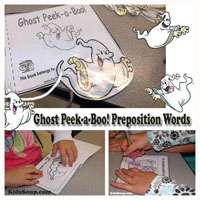 Preschool Kindergarten Ghost Booklet and Activity