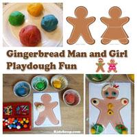 Preschool, Kindergarten, The Gingerbread Man Fine Motor Skills Activities