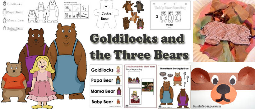 Goldilocks And The Three Bears Activities Crafts Printables