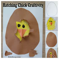 Preschool Kindergarten Chick Hatching Craft and Science
