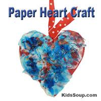 Preschool Kindergarten Heart Craft and Fine Motor Skills