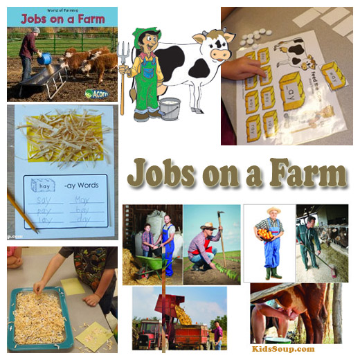 Community Helper Jobs on a Farm activities and games preschool