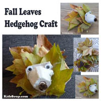 Preschool Kindergarten Hedgehog Craft and Fine Motor Skills Activity