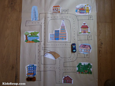 Road Maps Fine Motor Skills Center and Activity for preschool