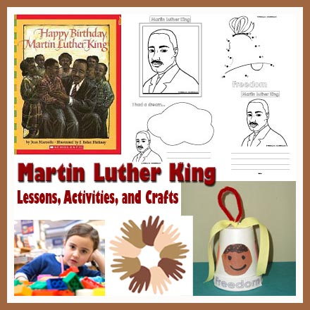 Martin Luther King Day Lesson Crafts And Activities Kidssoup