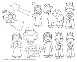 image about Printable Nativity Scene identified as A Xmas Tale Craft, Publications, and Pursuits KidsSoup
