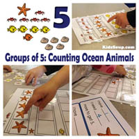 Ocean Animals Math Activities and Lesson in the Preschool Classroom