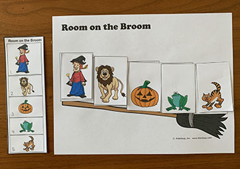 Room on the Broom Ordinal Number Preschool Activity