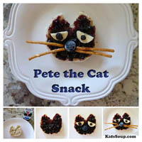 Preschool Kindergarten Pete the Cat Snack Idea
